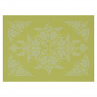 Le Jacquard Francais Le Jacquard Francais Coated Placemat Syracuse Green-20