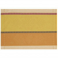 Le Jacquard Francais Le Jacquard Francais Coated Placemat Vent Douest Honey 50x36cm-20