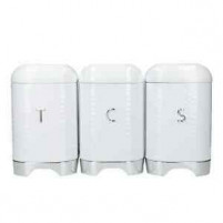 Kitchencraft Kitchencraft KitchenCraft Lovello Tea, Coffee and Sugar Storage Canisters in Gift Box, Ice White-20