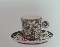 Billy the artist Billy the artist Taza de Porcelana con plato TWO IN ONE-20
