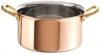 Ruffoni Ruffoni PLAIN COPPER Casserole with lid 16cm-20