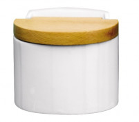 Cristel Cristel PANOPLY White porcelain salt jar-20