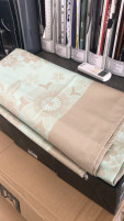 Le Jacquard Francais Le Jacquard Francais Light Green and Brown Stain Free Tablecloth 175 x 320 cm-20