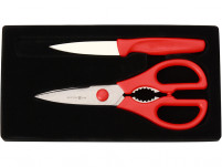 Wusthof Wusthof Kitchen shears + Paring Knife RED-20
