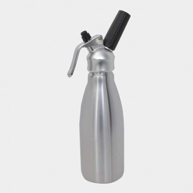 Professional Chantilly cream whipping siphon and cartridges