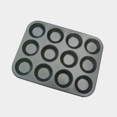 Tray of individual moulds - 12 round tartlets