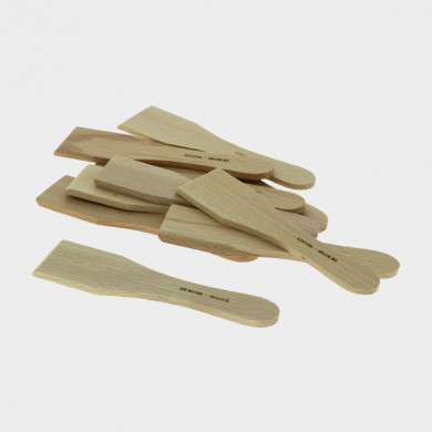 Set of 10 Wood Spatula for Raclette or Blini B BOIS