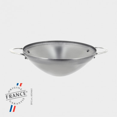 MINERAL B Wok with 2 handles 32cm