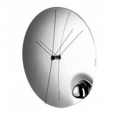 Wall Clock Stainlles Steel Acqua