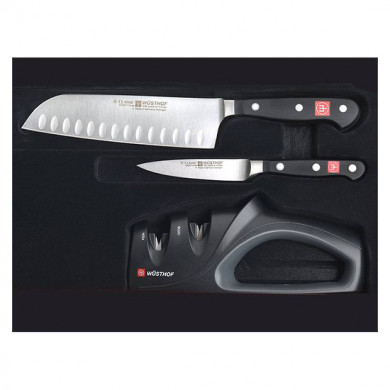 CLASSIC  Set of 2 Knives +  Duo sharpener