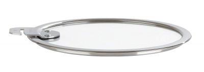 """Glass Flat Lid Strate Removable (""""L"""" Line) 26cm"""