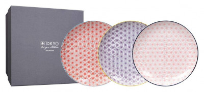 STAR WAVE Set of 3 Flat Plates