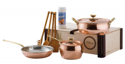 HISTORIA DECOR Copper 5 Pieces Set In Wooden Box