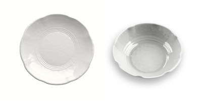 Soup Plate Set of 2 unid. White YORK
