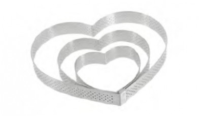 Stainless Steel Heart mould Ø8cm