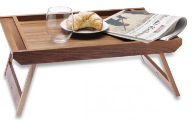 Walnut Wood Serving tray with legs