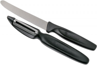 Peeling Knife + Peeler BLACK