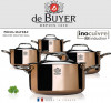 de Buyer Copper Cacerole pan with magnetic bottom with lid INDUCTION-07