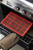 Lekué 24 Cavity Mini Brownie Mould, Red-00