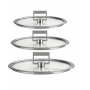 Cristel STRATE FIXE Set of 3 Flat Glass Lid 16-18-20cm