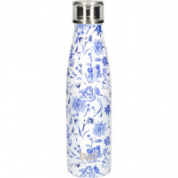 Kitchencraft Kitchencraft Botella de agua de doble pared 500ml Blue Floral Built-20