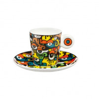 Billy the artist Billy the artist Taza de Porcelana con plato LOOKING INTO THE FUTURE-20