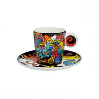 Billy the artist Billy the artist Taza de Porcelana con plato TOGETHER-20