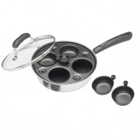 Kitchencraft Kitchencraft Cazo cocedor de 4 huevos carbono/aluminio-20