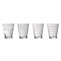 VILLEROY & BOCH VILLEROY & BOCH Dressed Up Vaso de agua j.4pzs clear 105mm-20