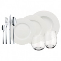 VILLEROY & BOCH VILLEROY & BOCH Wonderful World White 4 Friends, set de mesa de 36 piezas-20